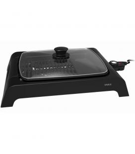 Gratar electric Vivax EG-4030, 2000 W, Incalzire rapida M-Shape, Termostat detasabil, Suprafata gratar / plita, Capac de sticla