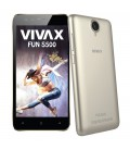 Telefon Mobil Vivax Smart FUN S500 Gold, Dual Sim, 5, Quad-Core MTK6580M, 8GB, 3G, Gold