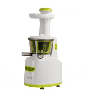 Storcator de fructe si legume cu melc Vivax SJ-150, 150W, 80 RPM, Recipient suc 0.8 l, 2 viteze, Alb/Verde