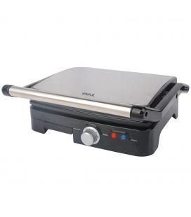 Gratar electric Vivax SM-1800, 1800W, 23x29 cm coacere, Negu/Inox